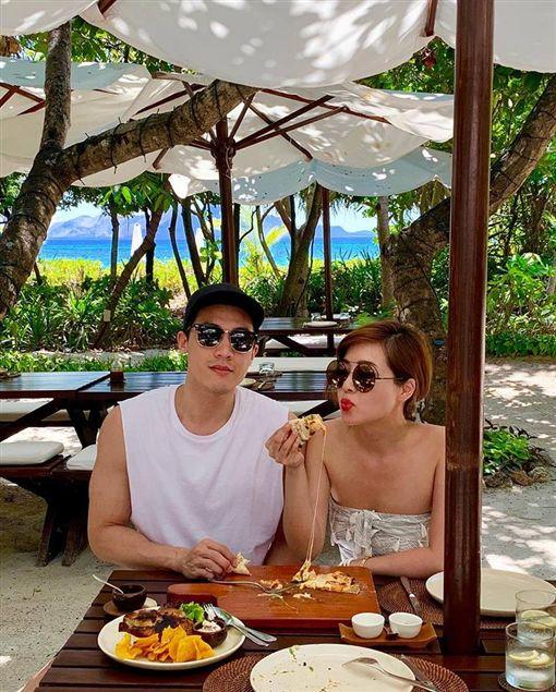廖曉喬與丈夫Alan前往菲律賓度假。(圖/廖曉喬臉書)