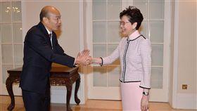 韓國瑜出訪香港,與香港特首林鄭月娥會面 圖/高雄市政府提供