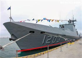 康定級艦(西寧軍艦)。(記者林士傑/攝影)
