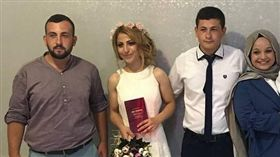 土耳其,綠帽,新娘,公公