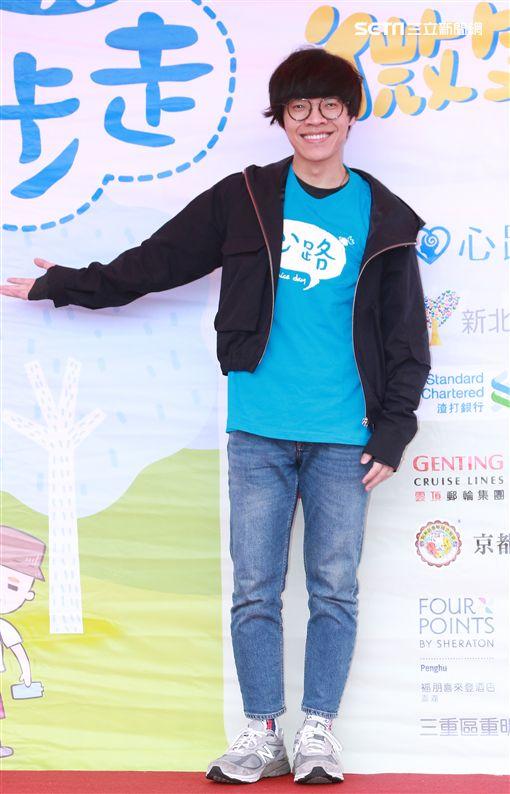 盧廣仲23日出席健走活動。(圖/記者林士傑攝影)