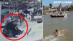 伊拉克底格里斯河(Tigris River)發生一起沉船意外,一艘渡輪因超載,離岸不久後就翻覆,導致遊客淪為「自由落體」被拋入河,不少人因不會游泳而遭滅頂慘死,河面上還漂著許多小孩死屍。據統計,目前已撈出109具屍體,罹難者多為婦女和兒童。(圖/AP授權)