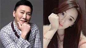 趙正平為節目效果「強抱」辣模子涵,網友砲轟「性騷擾」。(圖/翻攝自臉書)