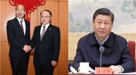 韓國瑜與王志民,習近平組合圖