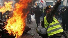 法國,黃背心,示威,抗議(圖/翻攝自推特)
