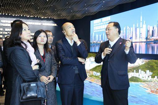 高雄市長韓國瑜3月24日率團參訪前海蛇口自貿區及前海深港青年夢工廠,高雄市政府
