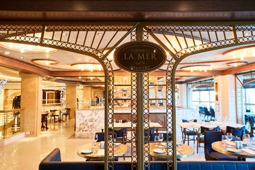 ▲La Mer雷諾的法式餐廳打造時尚的用餐環境,並帶給您融合傳統與現代風味的經典法式料理。(圖/公主遊輪)