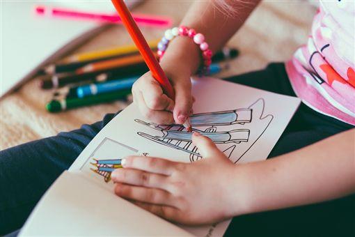 女童,畫圖,畫畫,女孩,手