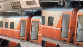 台鐵莒光號配電盤燒毀,冒出白煙。(圖/翻攝自爆廢公社)