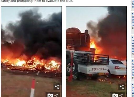 機師開飛機俯衝想撞死妻子,撞毀房屋自燃亡。(圖/翻攝自每日郵報)
