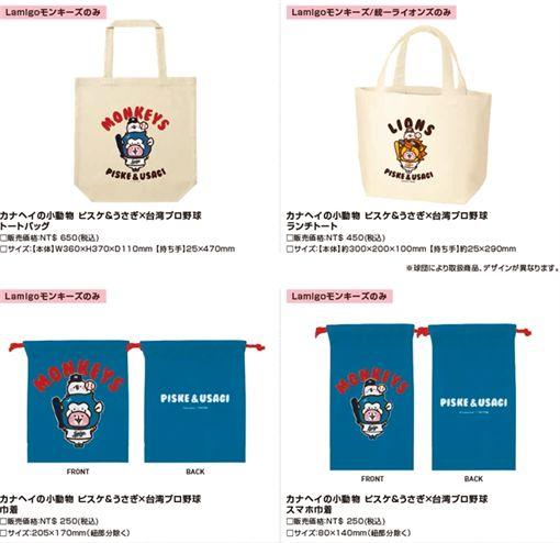 ▲卡娜赫拉和中職3支球隊推出聯名商品。(圖/翻攝自網路)