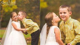 美國康乃狄克州一名5歲女孩蘇菲亞(Sophia Chiappalone),出生後患有嚴重的遺傳性心臟病,多次進出手術房。而蘇菲亞在第4次心臟手術前,向母親提出一個可愛的要求,就是想和好友兼愛人的杭特(Hunter)辦婚禮、拍婚紗照。照片曝光後,網友紛紛感動祝福:「要幸福!」(圖/翻攝自Sassy Mouth臉書)