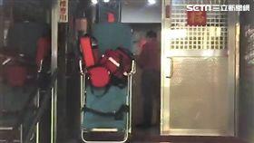 台北市中山區1名30歲的楊姓女子燒炭自殺現場(讀者提供)