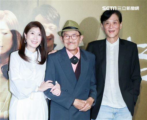 電影「老大人」首映會,演員小戽斗、喜翔、黃嘉千。(記者林士傑/攝影)