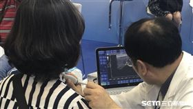 甲狀腺結節是否為惡性,得靠醫師觀察超音波影像、相當仰賴「醫師經驗」。(示意圖非新聞當事人/醫師張淳堆提供)