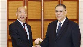 韓國瑜會見澳門特首崔世安,翻攝自澳門新聞局