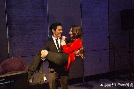 郭碧婷,向佐,向太,求婚現場照片。(圖/微博)