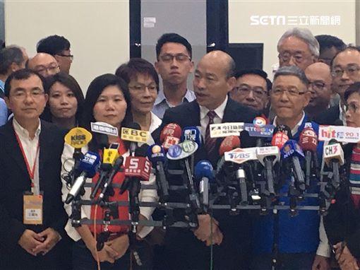 韓國瑜結束出訪中國行程,返抵高雄 圖/記者林昱孜攝影