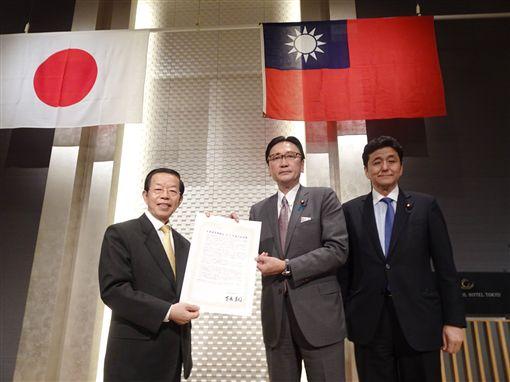 日議員聯盟挺台決議文 堅定與民主台灣合作 中央社