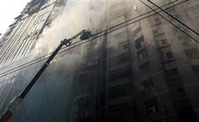 孟加拉,達卡,火災(圖/翻攝自推特)