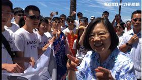 總統,辣台派,辣台妹,蔡英文,Waikiki海灘,國旗
