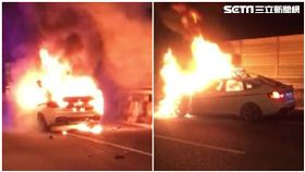 轎車追撞起火 駕駛燒成白骨妻跌坐痛哭