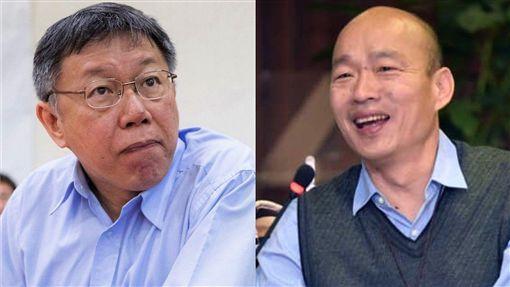 沈嶸通靈後發現柯文哲認為只有韓國瑜在2020總統之位爭奪戰能跟他分個高下。(圖/翻攝自臉書)