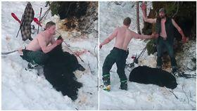 阿拉斯加黑熊家庭遭滅口,熊寶寶尖叫中斃命。(圖/翻攝自YouTube)