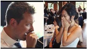 台灣女孩遠嫁義大利,新郎獻唱〈島嶼天光〉逼哭她 翻攝自YouTube