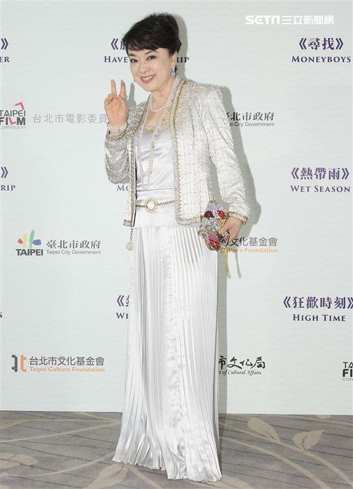 長居日本的翁倩玉回國參加電影演出。(記者邱榮吉/攝影)