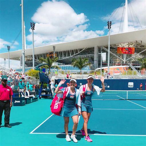 ▲詹家姊妹無緣晉級邁阿密網賽女雙冠軍戰。(圖/取自詹詠然臉書)