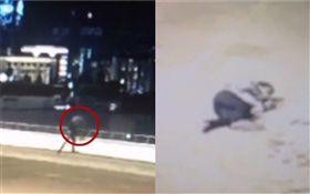 土耳其,丈夫將妻子從12公尺高橋上往下丟(圖/翻攝自《Liveleak》)