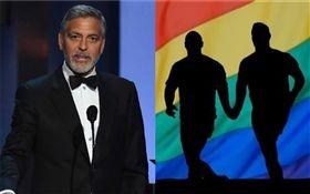 喬治克隆尼,同性戀(合成圖/翻攝自推特、pixabay)