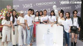 森田(左四)舉辦生日會暨品牌發表聯名發表,眾網美與女星好友們到場力挺。(圖/記者蕭翰弦攝影)