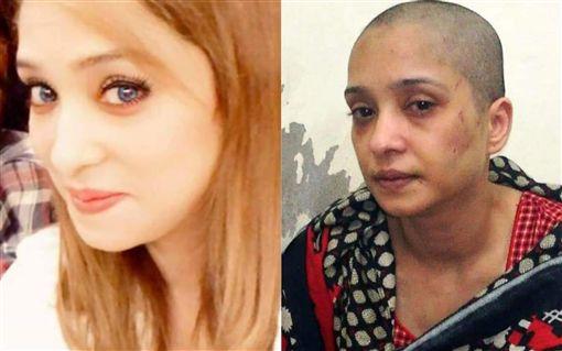 巴基斯坦,家暴,剃光頭 (圖/翻攝自推特)