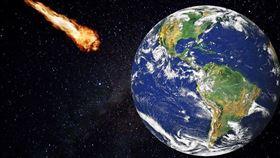 小行星撞地球。(圖/翻攝自PIXABAY)