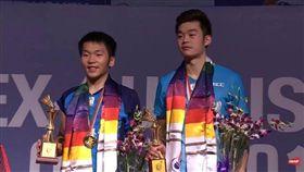 ▲李洋(左)與王齊麟首個超級500男雙冠軍。(圖/翻攝自李洋臉書)