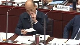 韓國瑜1日市議會備詢