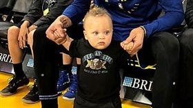 NBA/萌翻啦!柯瑞1歲兒當啦啦隊 NBA,金州勇士,Stephen Curry,Dell Curry 翻攝自推特