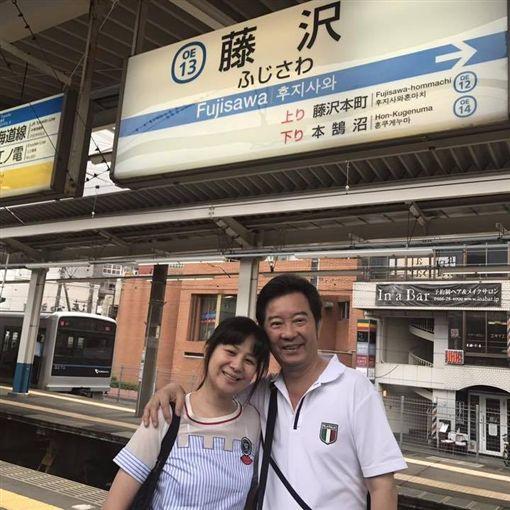 高群、老婆蔡世貞 圖/翻攝自臉書