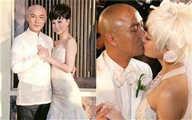 張衛健與老婆張茜。微博