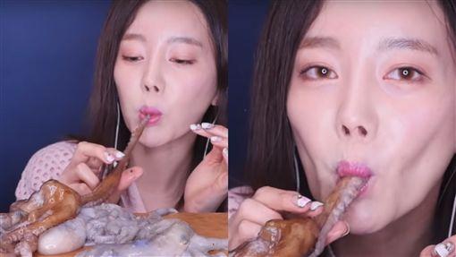 章魚,佳餚,韓國.YouTube,So young,生活,噎到,恐怖,驚悚, 圖/翻攝自YouTube