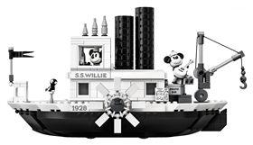 樂高,米奇,90歲,米奇的蒸汽船威利號,迪士尼,黑白動畫,Steamboat Willie