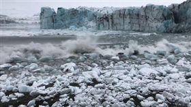 冰島,觀光客,崩塌,冰山 (圖/翻攝自臉書)