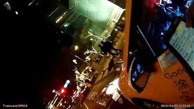 網紅計程車司機涂清涼面對警方時態度惡劣(翻攝畫面)