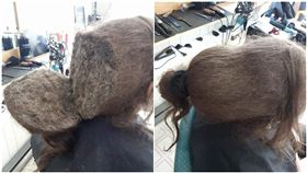 剪髮,洗頭,頭髮,髒亂(圖/爆笑公社臉書)