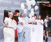 網路型男森田舉辦生日暨新衣發表會,眾多知名網美與女星好友皆穿白T到場。(記者林士傑/攝影)