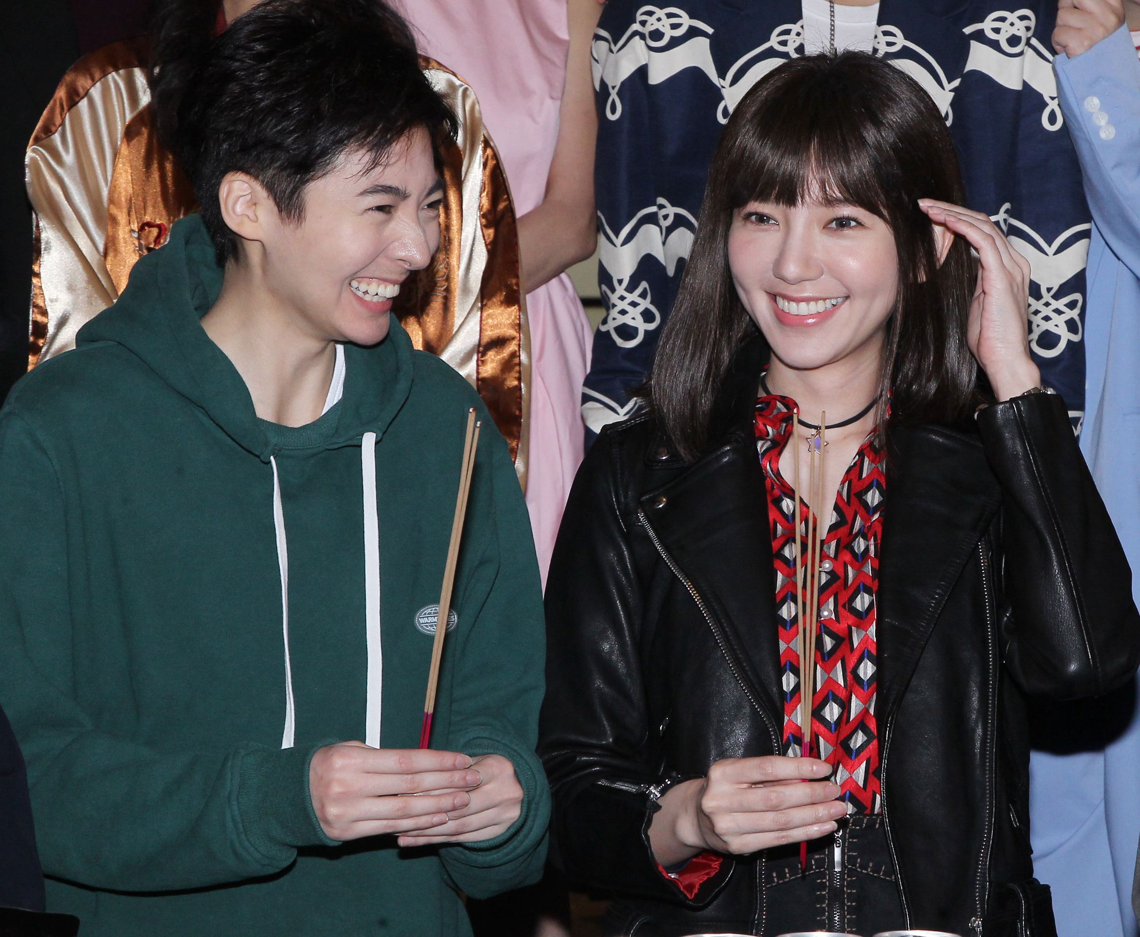 「花咲了女孩」主角郭雪芙、謝沛恩。(記者邱榮吉/攝影)
