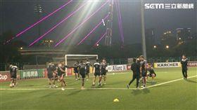 ▲亞足聯盃前夕,航源FC在竹北練球。(圖/記者林辰彥攝影)
