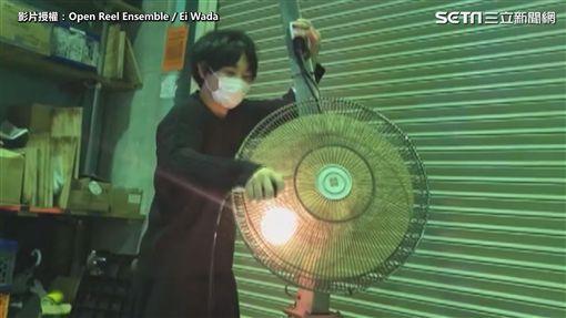 ▲和田永擅於運用老電器創作。(圖/Open Reel Ensemble / Ei Wada 授權)